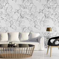 Fototapet - White ornament:...