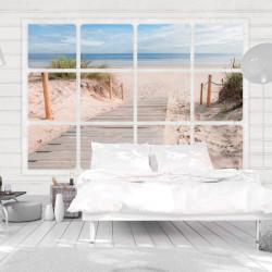 Fototapet - Window & beach
