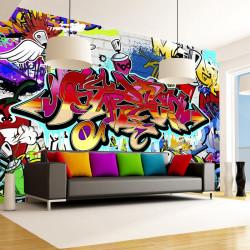 Fototapet - Street art:red...