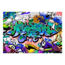 Fototapet - Graffiti: blue...
