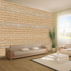 Fototapet - Brick with...